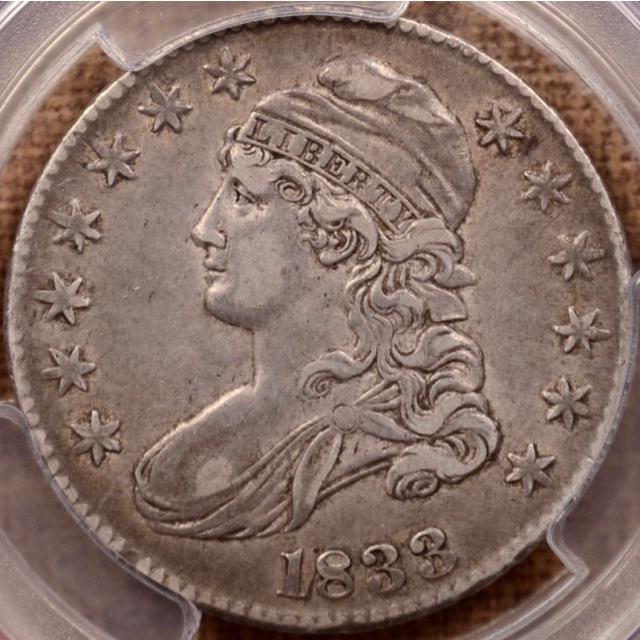 1833 O.102 Capped Bust Half Dollar PCGS XF40