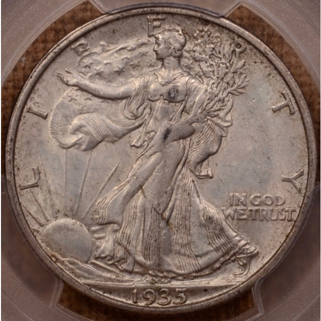 1935-S Walking Liberty Half Dollar PCGS AU58