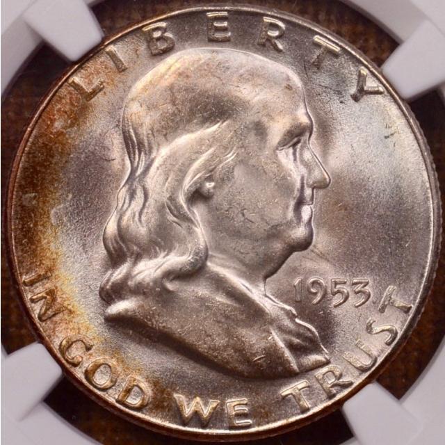 1953-S Franklin Half Dollar NGC MS66 CAC