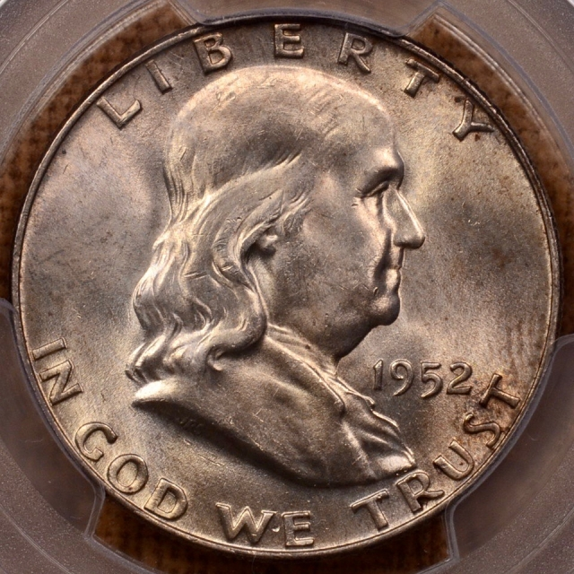 1952-D Franklin Half Dollar PCGS MS64FBL