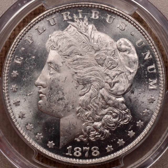 1878 V.1 8TF Morgan Dollar PCGS MS63, PQ+