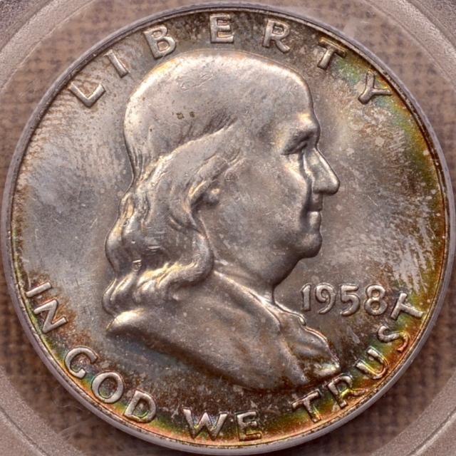 1958-D Franklin Half Dollar PCGS MS65 (CAC) OGH
