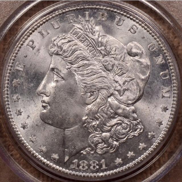 1881-S Morgan Dollar PCGS MS66, Gen 2.2 Holder