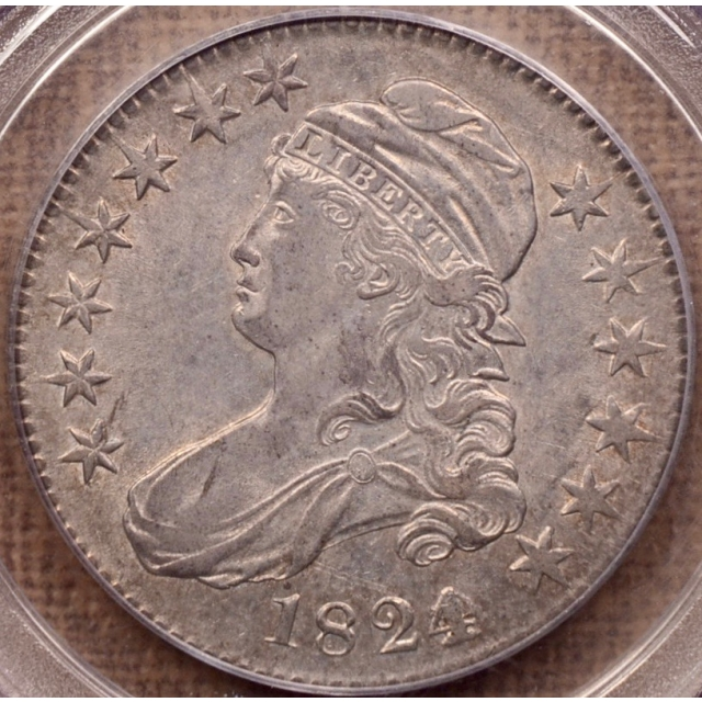 1824/Various Dates O.103 Capped Bust Half Dollar PCGS AU53