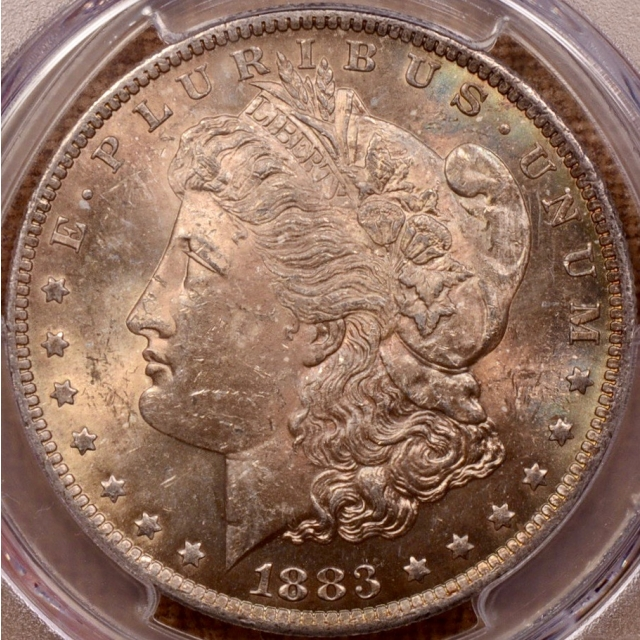 1883-O Morgan Dollar PCGS MS63, a toning masterpiece