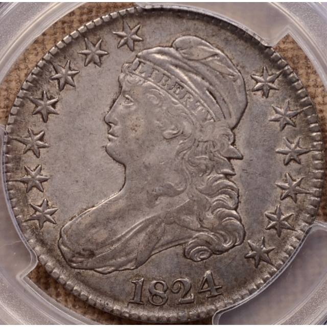 1824 O.115 Capped Bust Half Dollar PCGS XF40 CAC