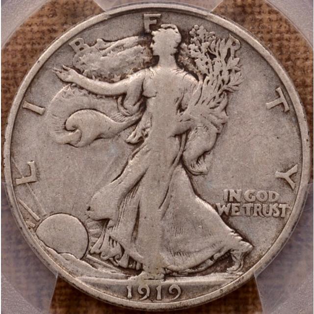 1919-D Walking Liberty Half Dollar PCGS VF20