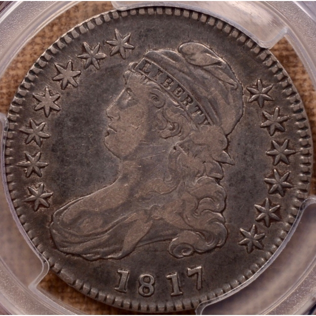 1817 O.103 Punctuated Date Capped Bust Half Dollar PCGS VF25 (CAC)