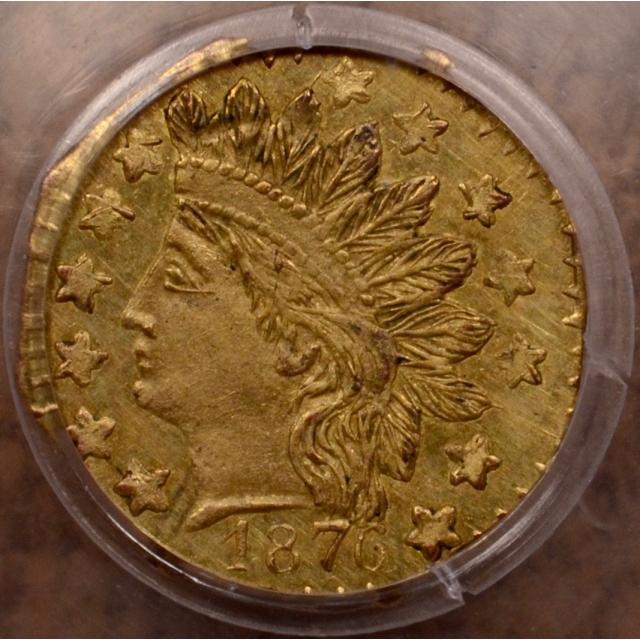 1876 BG-799 California Fractional 25C Gold PCGS MS62
