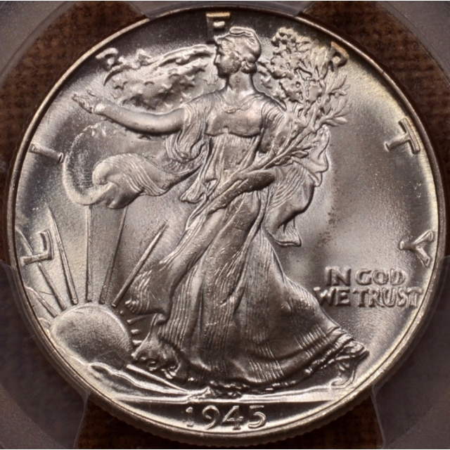 1945 Walking Liberty Half Dollar PCGS MS66+ (CAC)