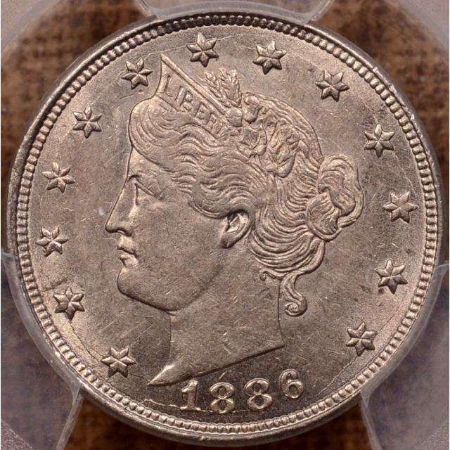 1886 Liberty Nickel PCGS AU55 CAC
