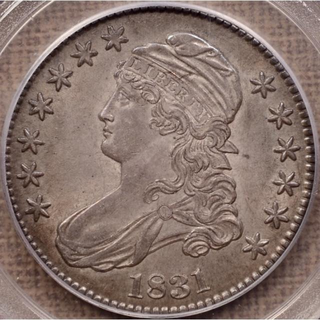 1831 O.117 R4 Capped Bust Half Dollar PCGS AU55 CAC, ex. Heisler