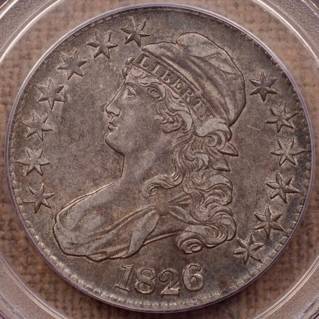 1826 O.102 Capped Bust Half Dollar PCGS AU53
