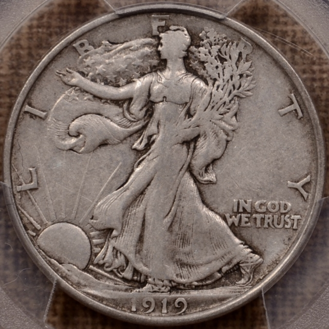 1919-D Walking Liberty Half Dollar PCGS XF40 CAC