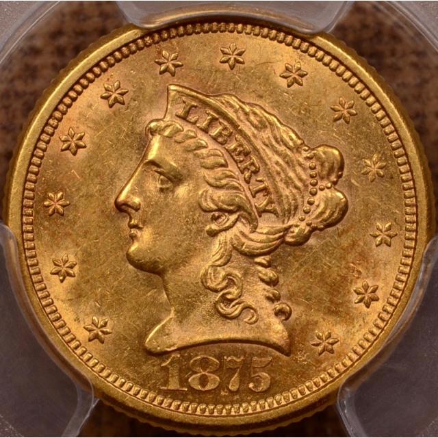 1875-S Liberty Head Quarter Eagle PCGS MS61