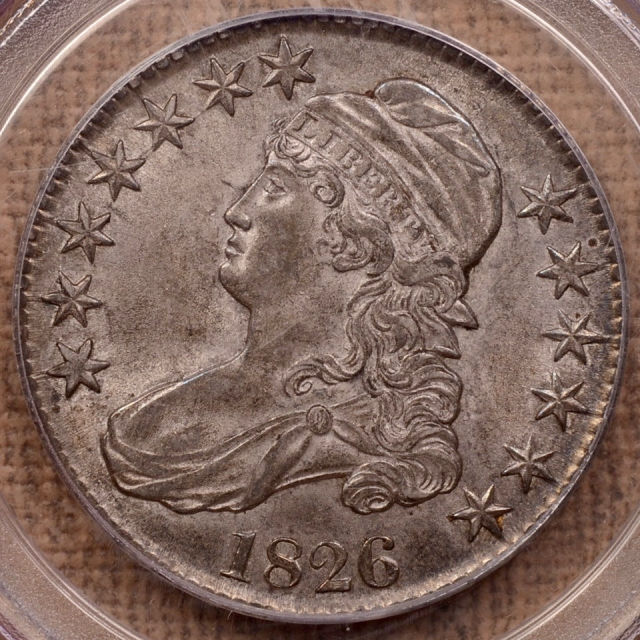 1826 O.104a Capped Bust Half Dollar PCGS AU58 CAC