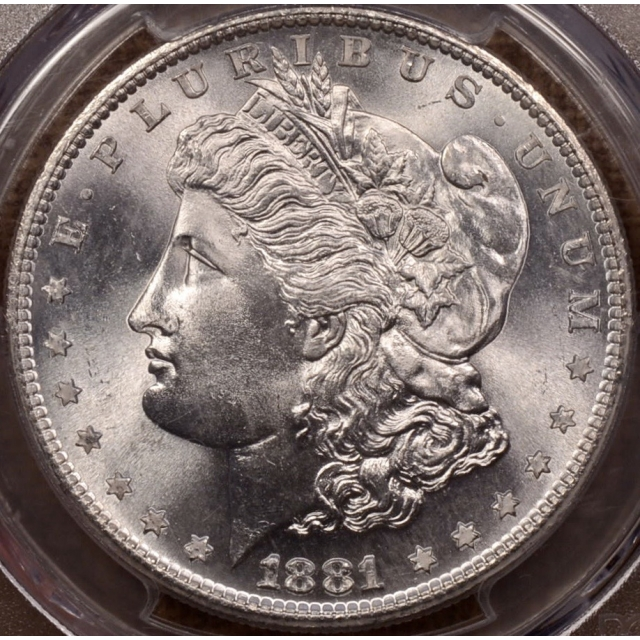 1881-S Morgan Dollar PCGS MS67 (CAC) a WOW coin