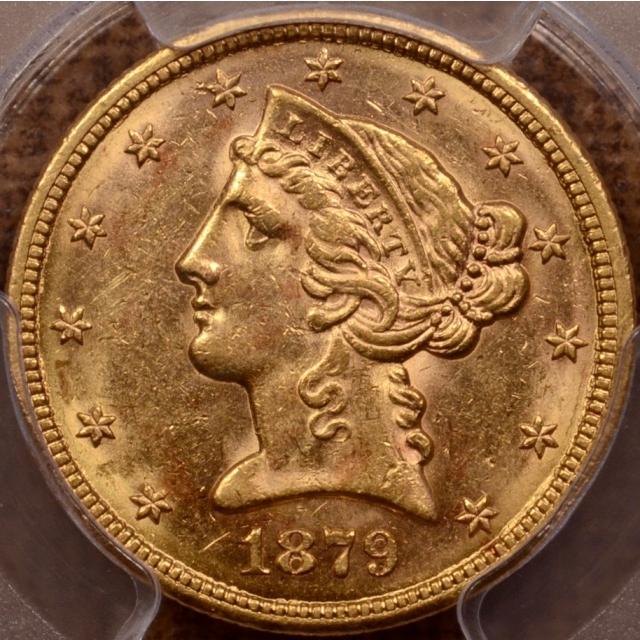1879-S Liberty Head Half Eagle PCGS MS61, PQ+