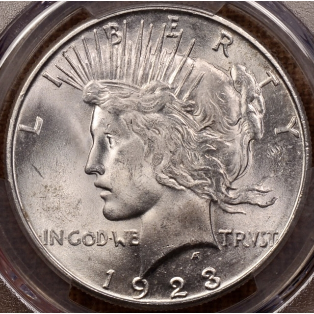 1923-S Peace Dollar PCGS MS64+ CAC