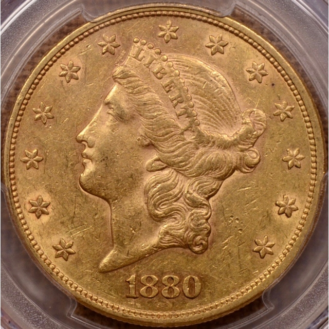 1880 Liberty Head Double Eagle PCGS AU50