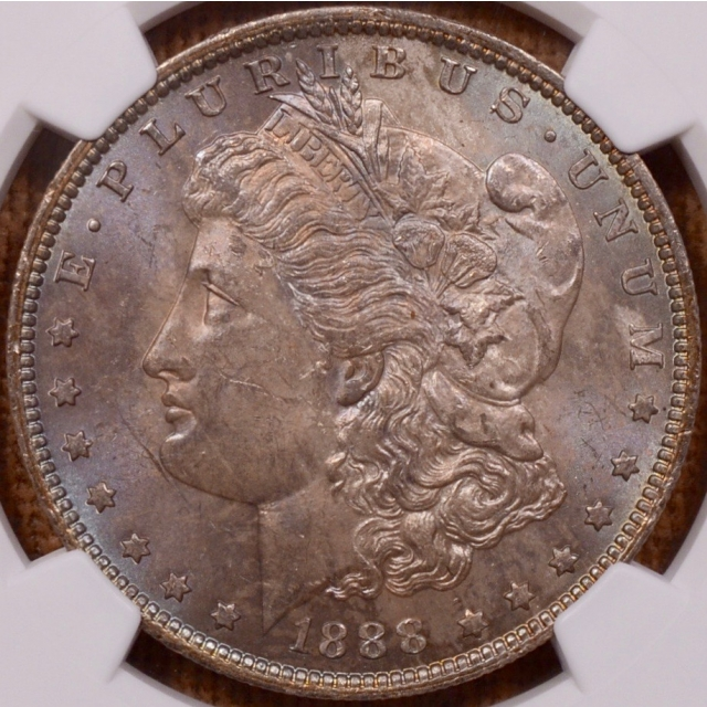 1888-O Morgan Dollar NGC MS64, super pretty toning