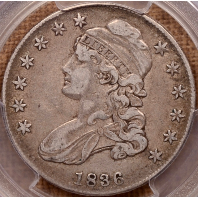 1836 O.119 Capped Bust Half Dollar PCGS VF30