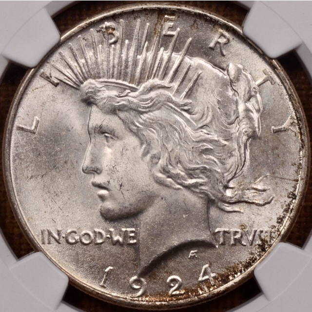 1924 Peace Dollar NGC MS65