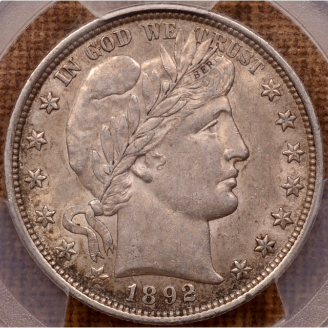 1892 Barber Half Dollar PCGS AU53