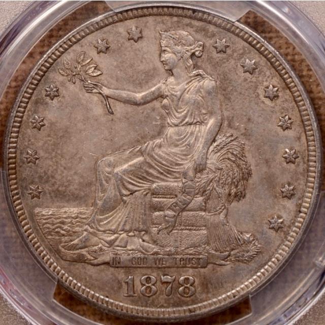 1878-S Trade Dollar PCGS AU58+ (CAC)