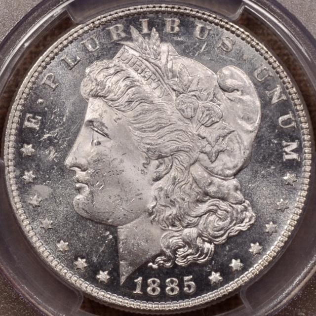 1885 Morgan Dollar PCGS MS63 DMPL