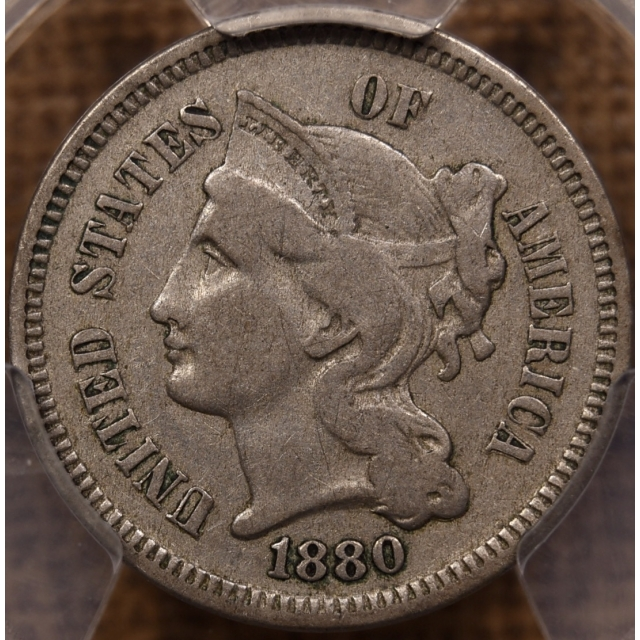 1880 Three Cent Nickel PCGS VF30