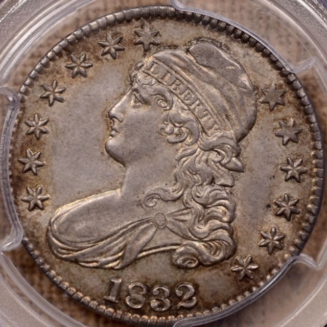 1832 O.102 Small Letters Capped Bust Half Dollar PCGS AU58 CAC
