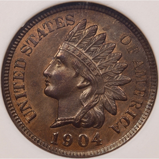 1904 Indian Cent ancient ANACS MS63 BN