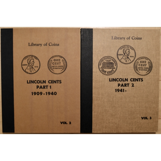 Library of Coins Volumes 2 and 3, Lincoln Cents (1909-1963-D plus) Parts 1 and 2 complete