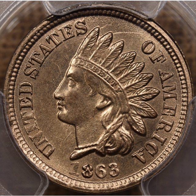 1863 Indian Cent PCGS MS64 CAC