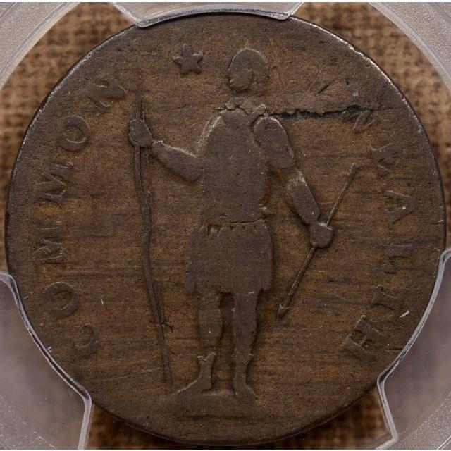1788 R.10-L W-6280 Massachusetts Cent, Period PCGS VG8