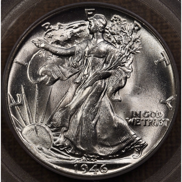 1946 Walking Liberty Half Dollar PCGS MS64 OGH, PQ++