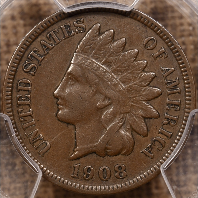 1908-S Indian Cent PCGS XF40