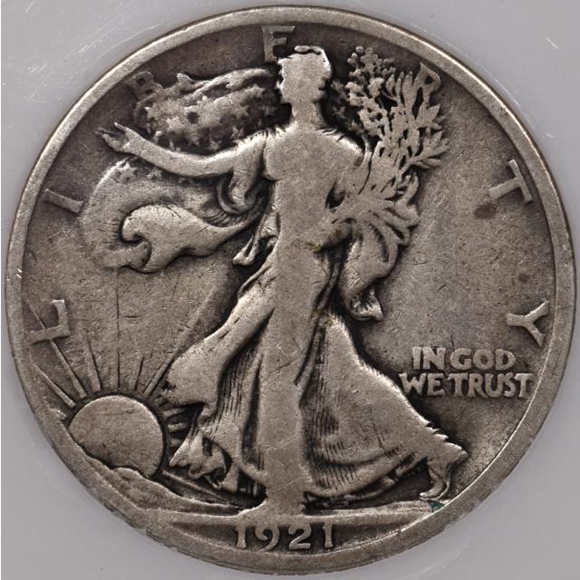 1921-D Walking Liberty Half Dollar PCI VG10 (VG8)