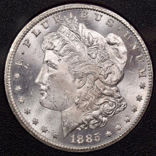 1885-CC GSA Morgan Dollar NGC MS63 CAC PQ++