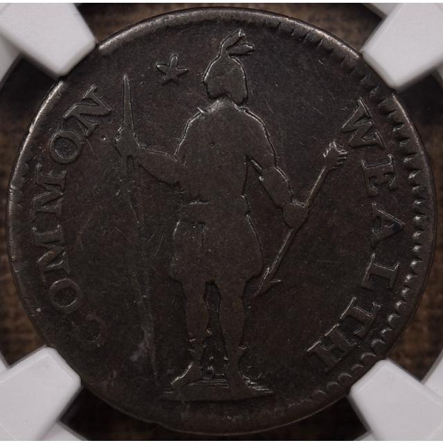 1787 R-2/A W-5910 Massachusetts Half Cent NGC VG10 BN