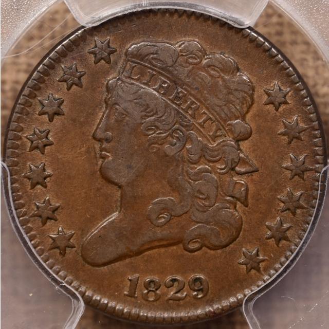 1829 Classic Head Half Cent PCGS VF35 CAC