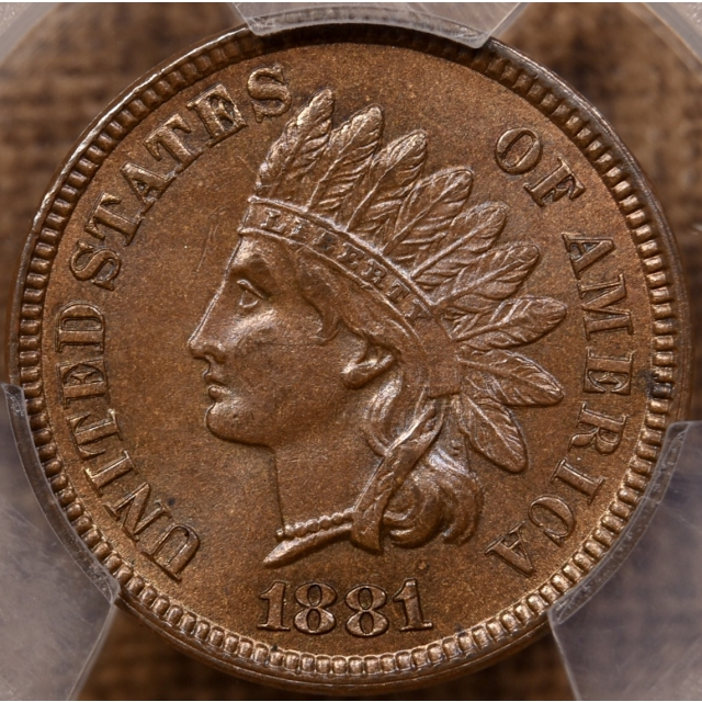 1881 Indian Cent PCGS MS64 BN