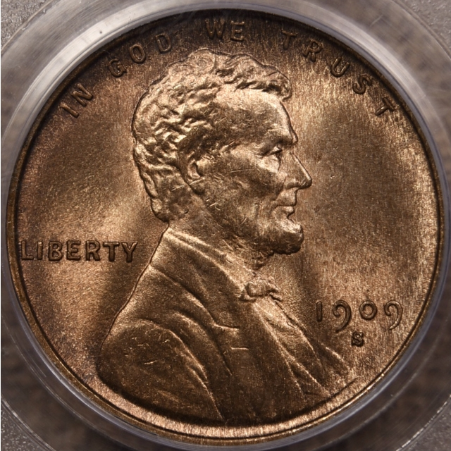 1909-S Lincoln Cent PCGS MS64 RB CAC