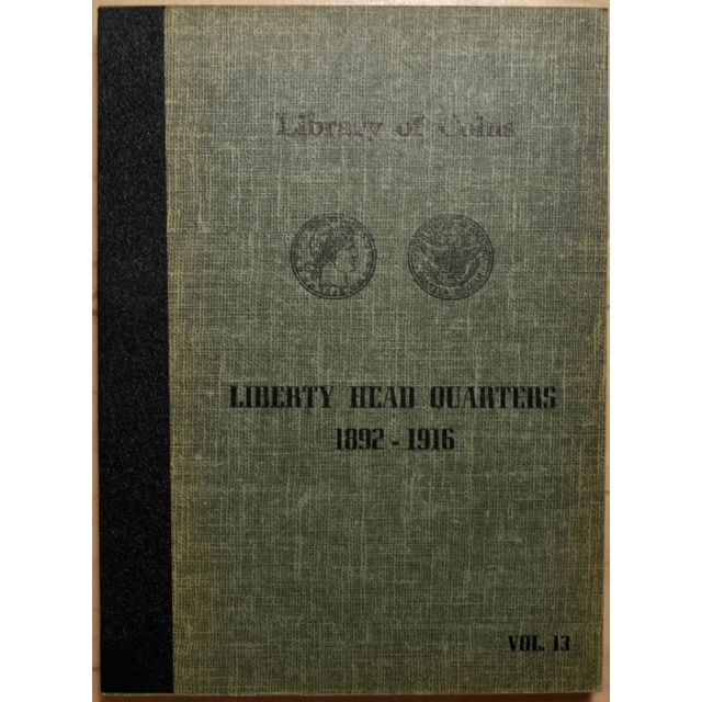 Library of Coins Volume 13, Barber Quarters (1892-1916)