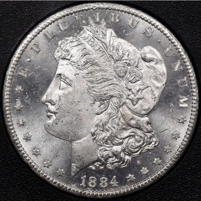 1884-CC Morgan Dollar GSA HOARD S$1 NGC MS64 CAC, I grade 64+PL