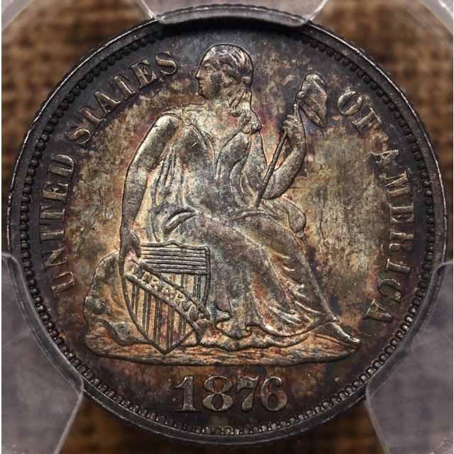 1876 Liberty Seated Dime PCGS MS66
