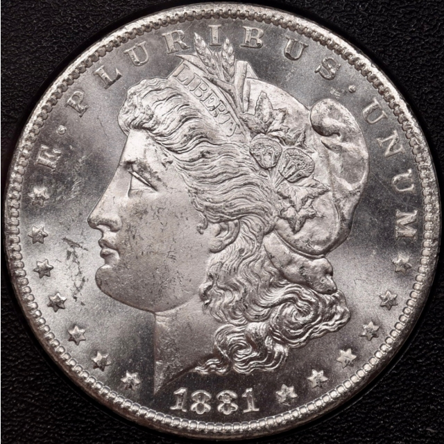 1881-CC GSA Morgan Dollar NGC MS63, exceptional PQ