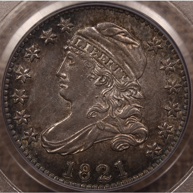 1821 JR-7 Large Date Capped Bust Dime PCGS MS62 CAC, EJ part 3