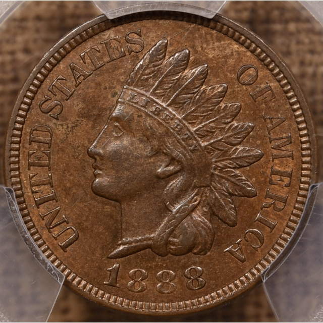 1888 Indian Cent PCGS MS63 RB